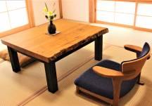 個性的な栗のローテーブル